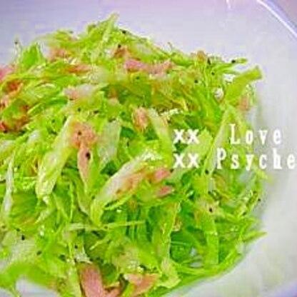 簡単♪ キャベツとシーチキンのサラダ
