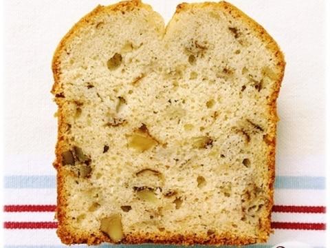 米粉で作るバナナとクルミのパウンドケーキ