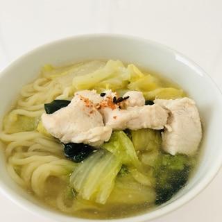 簡単!白菜&鶏肉の水炊き風ラーメン♡