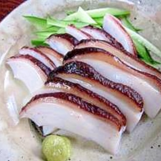 濃厚な味☆北海道産「水ダコの頭の刺身」