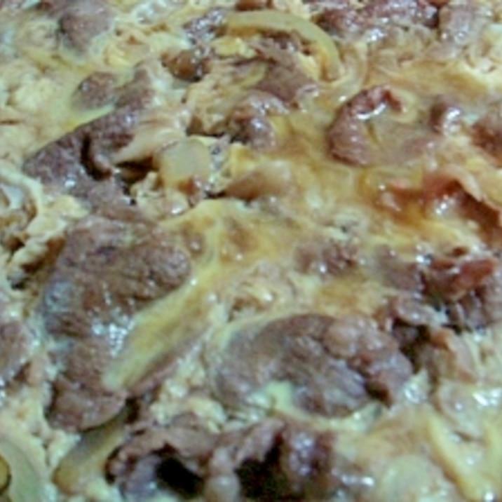 牛肉の卵とじ~すき焼き風~