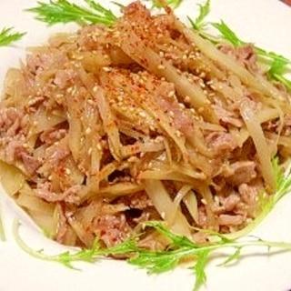 ウドと豚肉の中華炒め