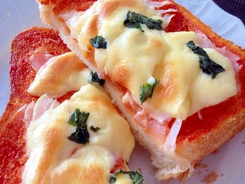 朝食に♪簡単「ピザトースト」