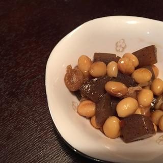 大豆とこんにゃくの煮物