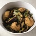 青梗菜と干し椎茸とがんもどきの炒め煮♪