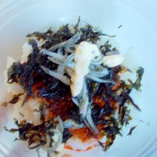 ピリ辛ラー油海苔ちりめんご飯