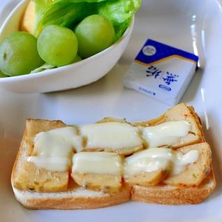 海苔佃煮とたけのこ土佐煮のチーズトースト