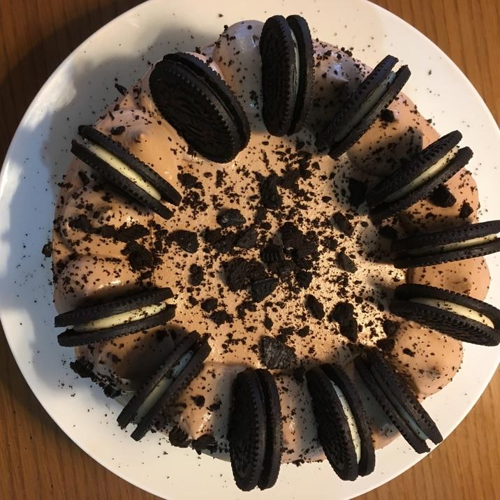 オレオデコレーションケーキ