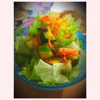 残ったキムチで簡単チョレギサラダ