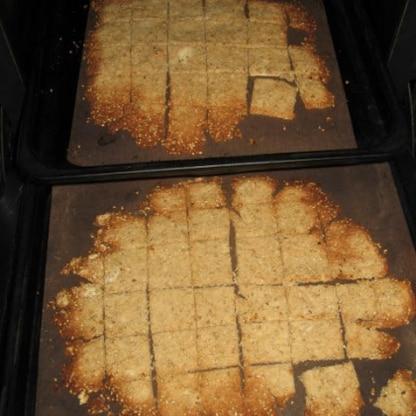 撮影前につまみ食い(笑) 美味しかったです  倍量で、天板2枚で焼いちゃいました 焼け具合を見ながら、上下を入れ替え  ステキなレシピ、ありがとうございました