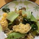 青梗菜と炒り卵の炒め物