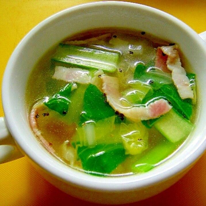 スープ 白菜 ベーコン
