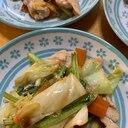 豚薄切り肉の野菜炒め