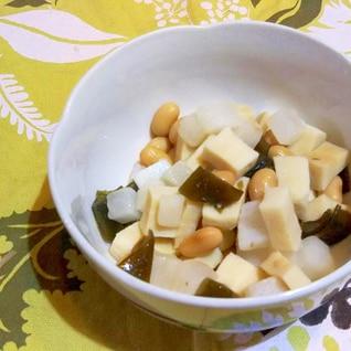昆布豆・大根・高野豆腐のレンジ煮物