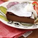 タルト型で、チョコレートベイクドチーズケーキ