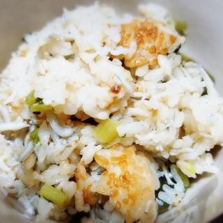 しらす(じゃこ)と大根菜の炊き込みご飯♪