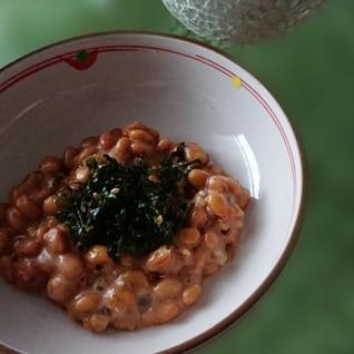 えごま油で☘大葉とジャバンのり納豆ꕤ୭*