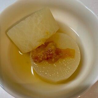 金柑ジャム入り味噌で ふろふき大根