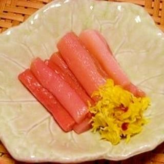 からとり☆芋がらの甘酢漬け