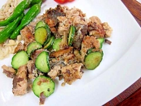さば缶レシピ☆ ノンオイル「フライパンで焼き鯖」