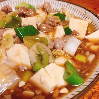 【簡単!】ひき肉でとろり肉豆腐