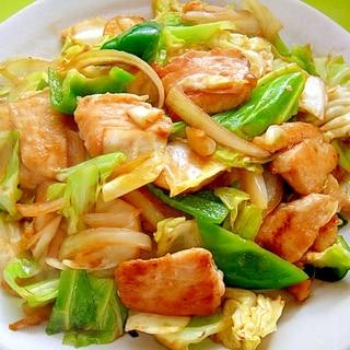 焼肉のタレと味噌で☆キャベツと鶏むね肉の炒め物