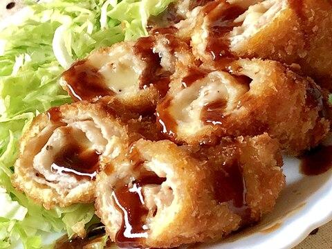 ★薄切り豚肉deロールチーズカツ★