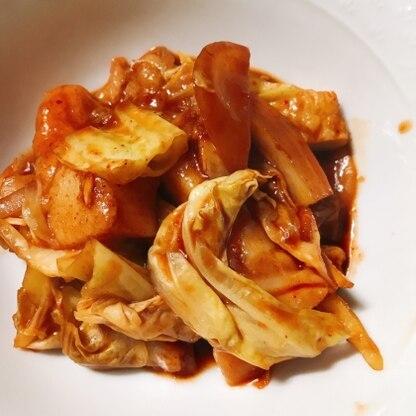 甘辛味がよく絡んでトッポギもキャベツも美味しかったです。