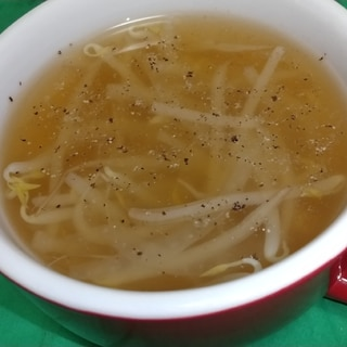 簡単☆節約☆もやしと玉ねぎのコンソメスープ