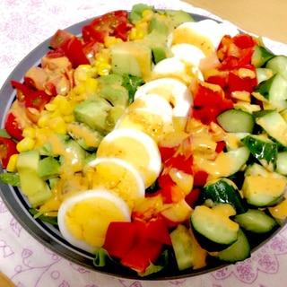 1日分の野菜が食べられる!コブサラダ