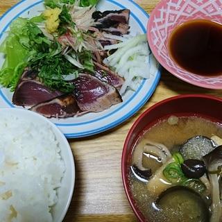 「薬味たっぷり」鰹のたたき定食