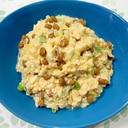 納豆と豆腐のふわふわ炒め