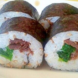 牛肉佃煮の巻き寿司