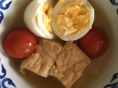 厚揚げ、卵、トマト!