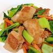 カリッとジューシー☆鶏肉とチンゲン菜の中華炒め