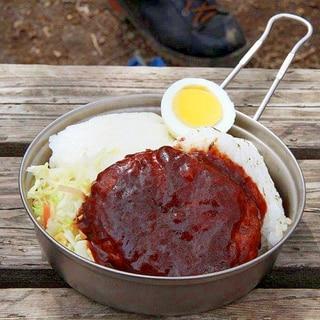 コンビニ食材で作る山のロコモコ丼