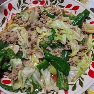 中華鍋で手早く仕上げる!キャベツと豚肉のみそ炒め