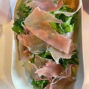 ワインのおつまみ♪ケールと生ハムといちじくのサラダ