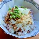 5分!枝豆焼き&大根おろし❤イソフラボン納豆ご飯♪