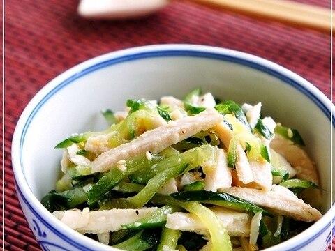 絶対美味しい♪ きゅうりとサラダチキンの塩ナムル