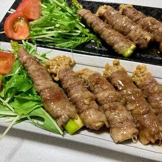 こってり甘辛☆牛肉の野菜巻き