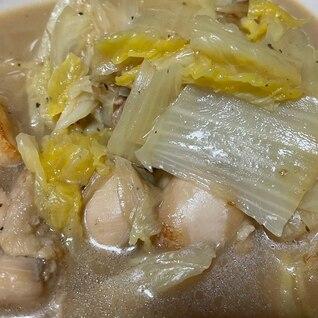 白菜と鶏モモのレモン炒め煮
