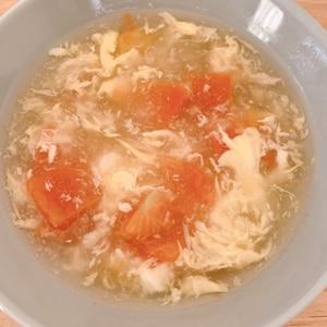 トマトと玉子の中華風スープ