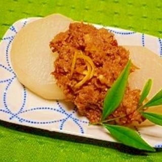 減塩☆ふろふき大根の胡桃リンゴ味噌