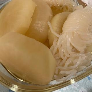 白だしで簡単!大根と白滝の煮物