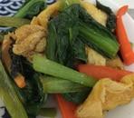 小松菜と人参の油揚げ炒め