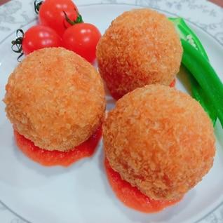 えびトマト☆ライスコロッケ