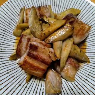 【簡単】豚バラ肉とごぼうのバルサミコ炒め
