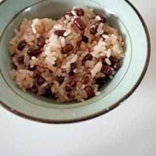 炊飯器で 小豆のお赤飯