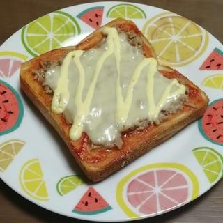 ずぼらツナトースト
